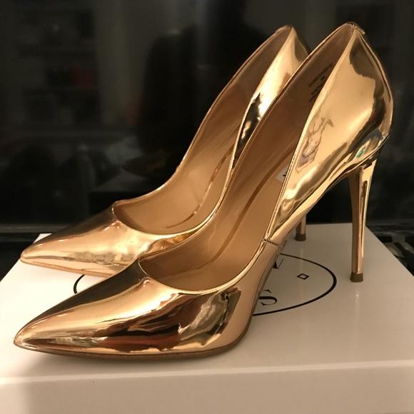 0258817311a Steve Madden Daisie Rose Gold Heels (worn once). M 5a97851945b30c4bd3f412d2